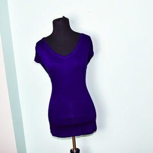 Very Wang Purple Silky Blouse